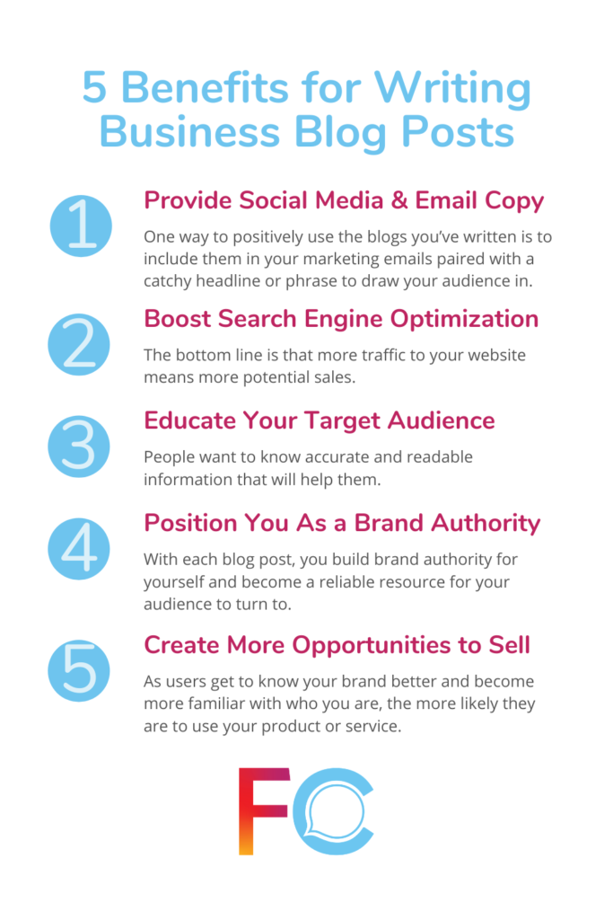 Benefits for Writing Business Blog Posts